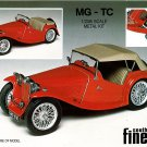 MG TC sports car white metal scale model kit to assemble and paint