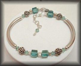 Lynton - Silver crystal bracelet