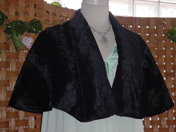 Plush fur Cape Black Vintage