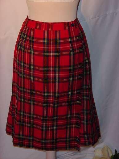 Kilt Wrap Skirt Windsor Sportswear of Boston Plaid Kilt Skirt #72