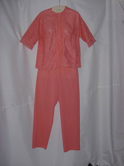Vintage Melon colored Vanity Fair Pajama set New Without Tag  No. 13