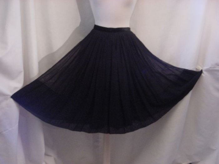 1950 1960s Wide Flare Vintage Skirt Swishy Taffeta & Rayon? Skirt Soft pleats  No. 14