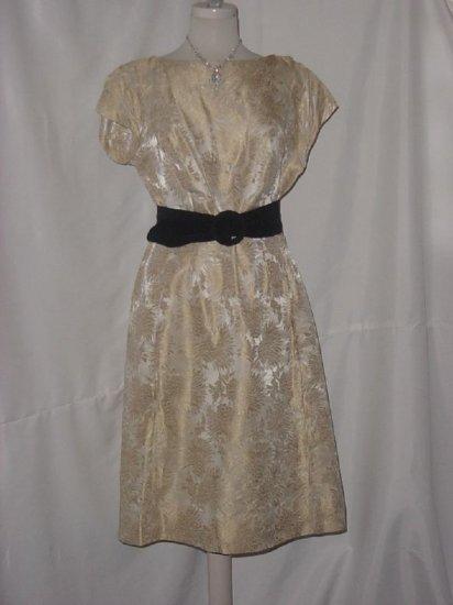 Vintage Carol Brent Brocade WIGGLE DRESS matching Jacket Bust 38 No. 12
