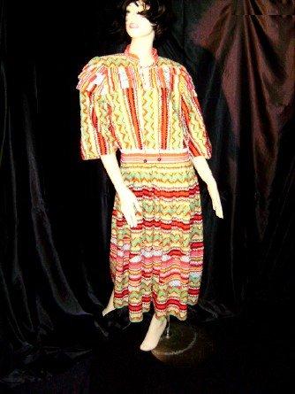 Diane Freis Original 1980s Vibrant BoHo Dress Artsy Dress Southwest Print Abstract   39
