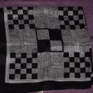 Vintage black and white geometric Scarf    53