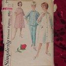 Simplicity Pattern 5205 Sz 18 Bust 38 Housecoat Robe Top and Pants Pajamas  No. 32