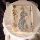 McCall's 1962 Dress Pattern 6649 size 14 1/2 Bust 35 half size dress with slim or full skirt   41