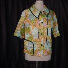 BedJacket Multi Colored Tie Dye look Bed Jacket Vintage Quilted Bed jacket  No. 26