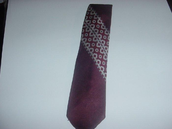 Mens Necktie Beau Brummell tie wine silver   44