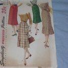 Simplicity Pattern 1731  Slender Vintage Skirt 40s 50s 60s gore skirt Waist 28  49