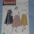 Butterick Printed Pattern 5926 Vintage Skirt Four Gore Skirt Pattern Waist 28  49