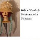 Wild Thatched Roof hat Womens hat Raffia straw summer beach hat Vintage 1960s, 1970s - 50