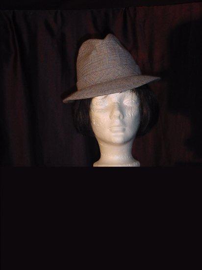 Dobbs Fifth Avenue Mens Tweed Hat 6 7/8 mans hat vintage fedora  50
