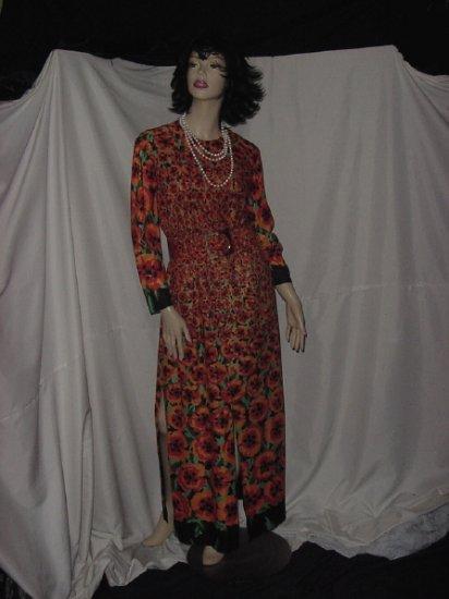Samuel Grossman Vintage Diva Dress Floor length Autumn Colors Special occasion Party Dress  51