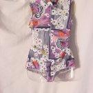 Body suit 1960 1970 Mod Op Art bodysuit Blouse top Shirt  52
