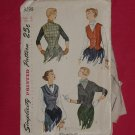 Simplicity printed 1940s 1950s pattern size 12 Weskit Jacket 3298 - 54