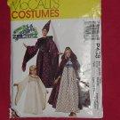 McCalls Pattern P438 Costume Pattern Childrens girls misses medieval costumes 54