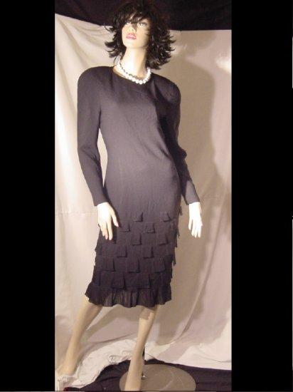 Feraud Elegant Black Fringe Feraud dress Womens  Size 4      #54
