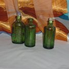 Bitters bottles Green reproduction Wheaton bottles 1872  #28