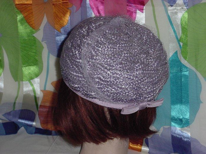 Hat ladies Lavendar Straw Vintage Bubble womens hat  #19