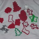 Christmas Cookie Cutters  3 Wiltons  Trees Angels Bells Boots #55
