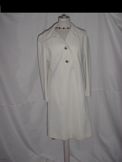 Coat Vintage Gino Rossi Off White Cool Weather coat  #57