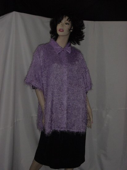 Lavender Serene Sport shirt jacket blouse  2X  #57