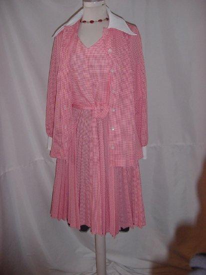 vintage dress Julie Miller Dress Jacket 2 piece pleated skirt   #58