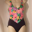 Catalina swimsuit Floral Black Swim wear Size 10 #60