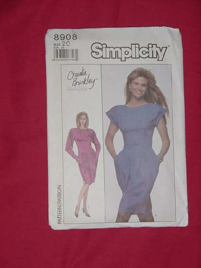 SOLD SOLD SOLD Simplicity Dress Pattern Christie Brinkley Collection Size 20 8908    #59