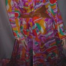 Palazzo Pants Lounger 1970s Housewear Maxi  Mod lounge wear  #61