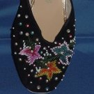 Beaded vintage house slippers Shoes Size 10 Hong Kong #65