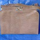 Faux reptile Skin Bag Vintage purse handbag Medium Brown #67