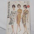 1950s Sheath Butterick sewing pattern 2137 Size 12 dress Bust 32   No. 193