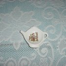 Spoon Rest Tea Bag holder Teapot shaped Ceramic  No. 77