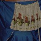 Half apron vintage fabric Dog theme apron No. 78