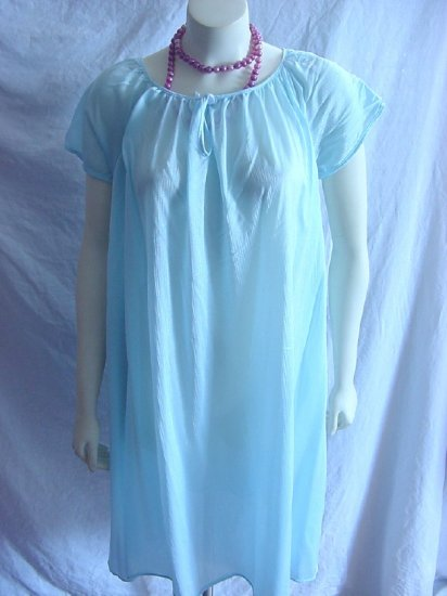 Robins egg blue free bust nightgown