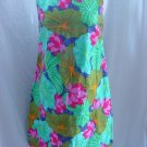 1960s vintage shift dress cowl collar Multi color pinks greens dress  No. 45