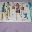 Simplicity 8411 one piece mini skirt vest hip hugger pants Size 16 Bust 38 Waist 29  No. 82