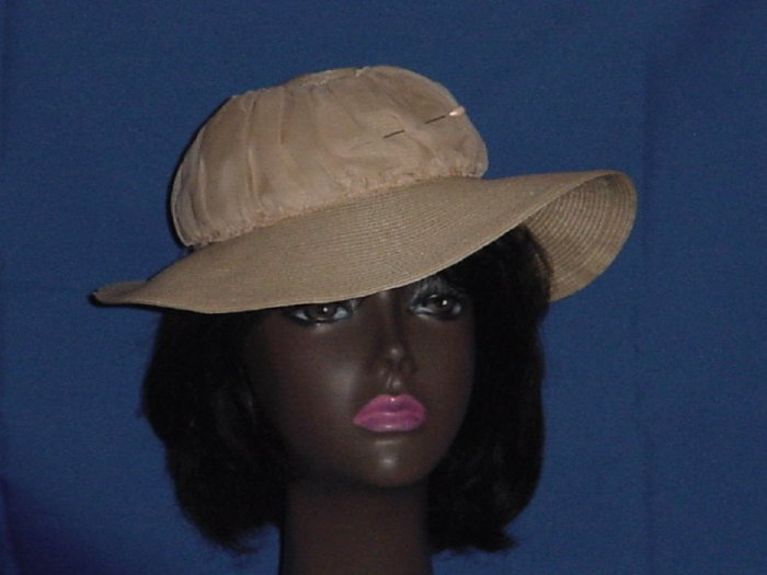 Wide brim vintage womens hat rounded crown No. 84