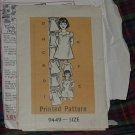 Printed Pattern Size 6 Girls 9449 Girls' Dress  No. 30