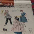 Butterick 7052 Quick Easy Sewing Pattern 1950s 1960s Size 14 Bust 32 Womens Kitchen Helpers  No. 30