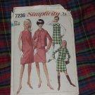 Simplicity Dress Pattern 7236 Jumper Miss Size 12 Bust 32  No. 30