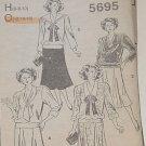 Trumpet Skirt Set in Waist Blouse Sailor Collar 12-14-16 5695  No. 30