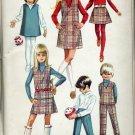 Simplicity Pattern 7785 childs girls jumper top skirt pants 1968 Uncut pattern  No. 86
