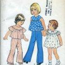 Simplicity 7365 Size 1/2 Toddler dress or top pants No. 86
