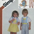Simplicity 6311 Toddler Size 3 overalls jumper sundress 1983 Sewing pattern No. 86