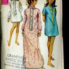 Simplicity Vintage Pattern 7912 Miss Size 8-10 Sleep Shirt two lengths 1968 pattern No. 86