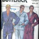 Butterick Sewing Pattern 3037 Mens robe pajamas top xs-s-m No. 86