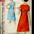 Vintage Sewing Pattern Simplicity 5456 Jr misses dress Size 14 Bust 34 1970 pattern Mo. 86